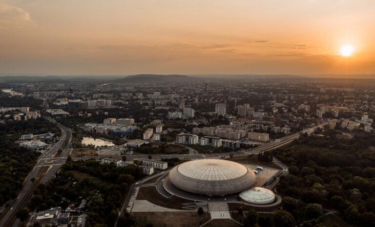 Tauron arena w krakowie z drona