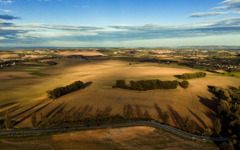 Małopolska wieś i droga