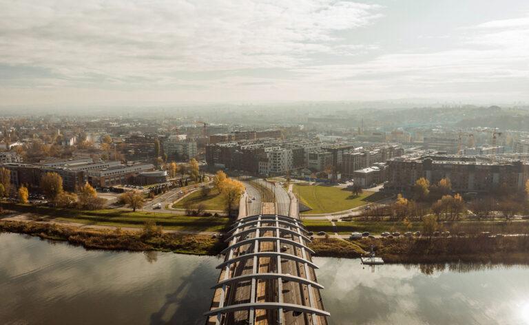 Krakowskie mosty z drona