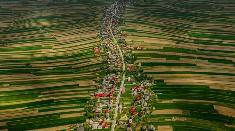 Sułoszowa z drona małopolska