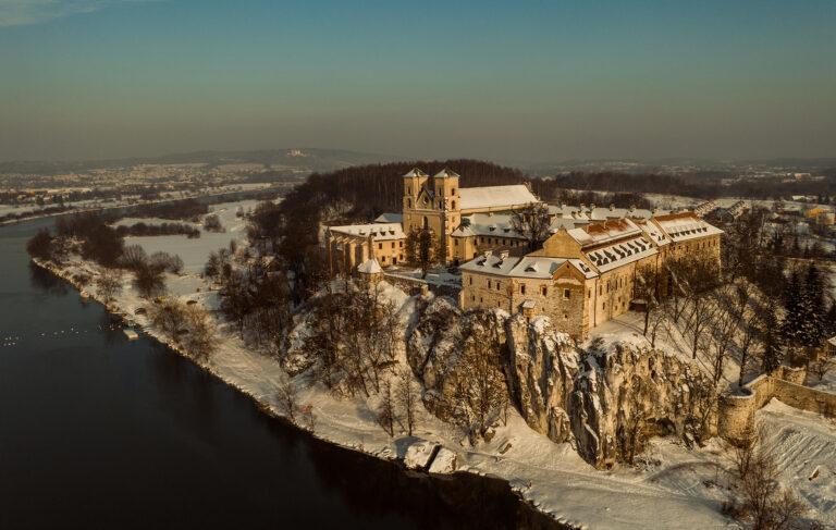 Opactwo Benedyktynów w Tyńcu z powietrza