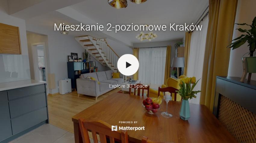 Wirtualny spacer mieszkania Matterport
