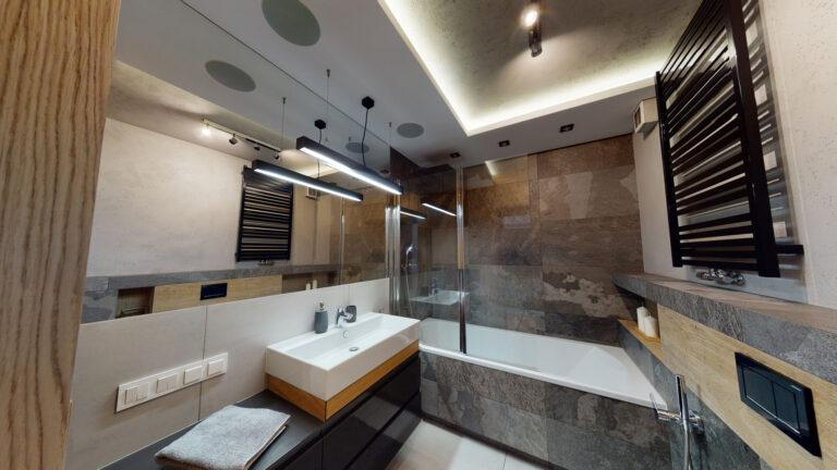 Luksusowa łazienka fotografia wnętrz