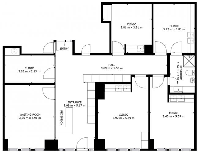 Wirtualny spacer 3D - Techniczny plan mieszkania